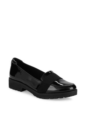 ANNE KLEIN Beyond Patent Loafers in Black