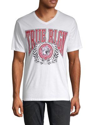 True Religion Short-Sleeve Graphic Cotton Tee