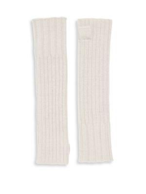 Portolano Gloves Ribbed Cashmere Fingerless Gloves