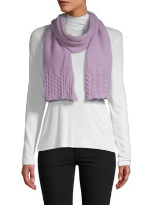 Portolano Scarves Cable Knit Wool & Cashmere Scarf