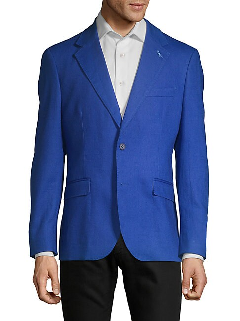 TAILORBYRD Callin Linen & Cotton Sports Jacket in Royal