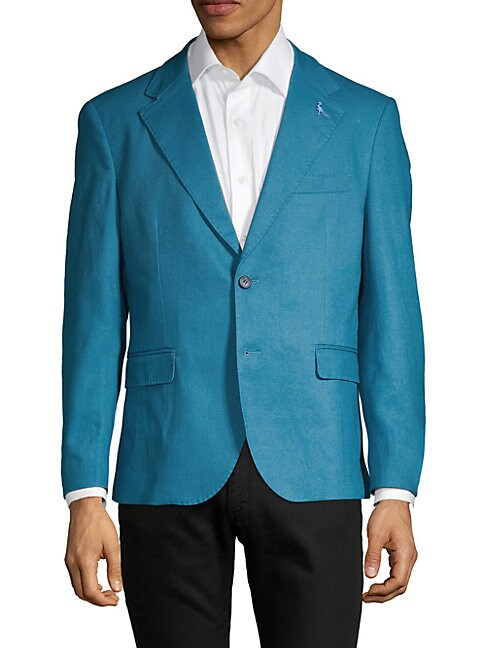 TAILORBYRD Gatsby Linen Cotton Sport Jacket in Blue