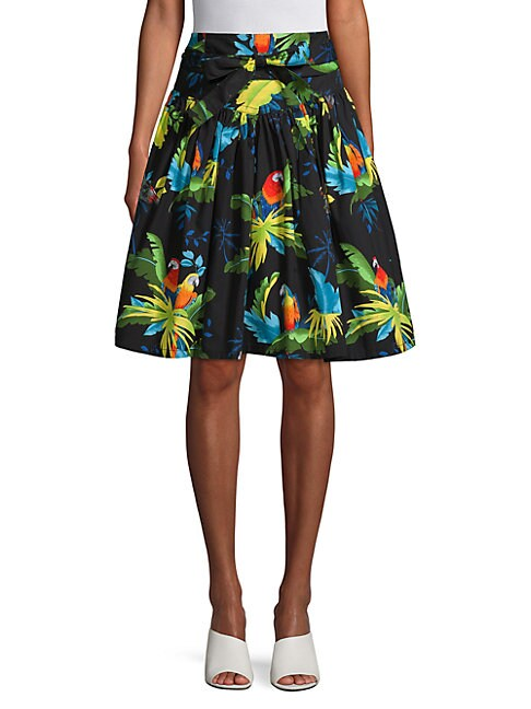Parrot Belted Skirt