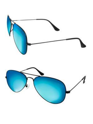 AQS Oliver 58Mm Square Sunglasses in Aqua
