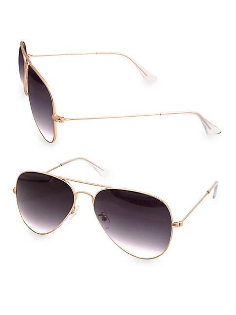 AQS Mason 58Mm Aviator Sunglasses
