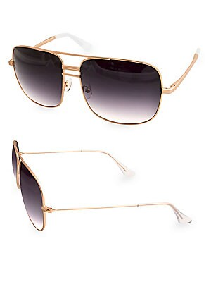 bf019f6a4d2 AQS - TOMMIE 60MM Aviator Sunglasses - saksoff5th.com