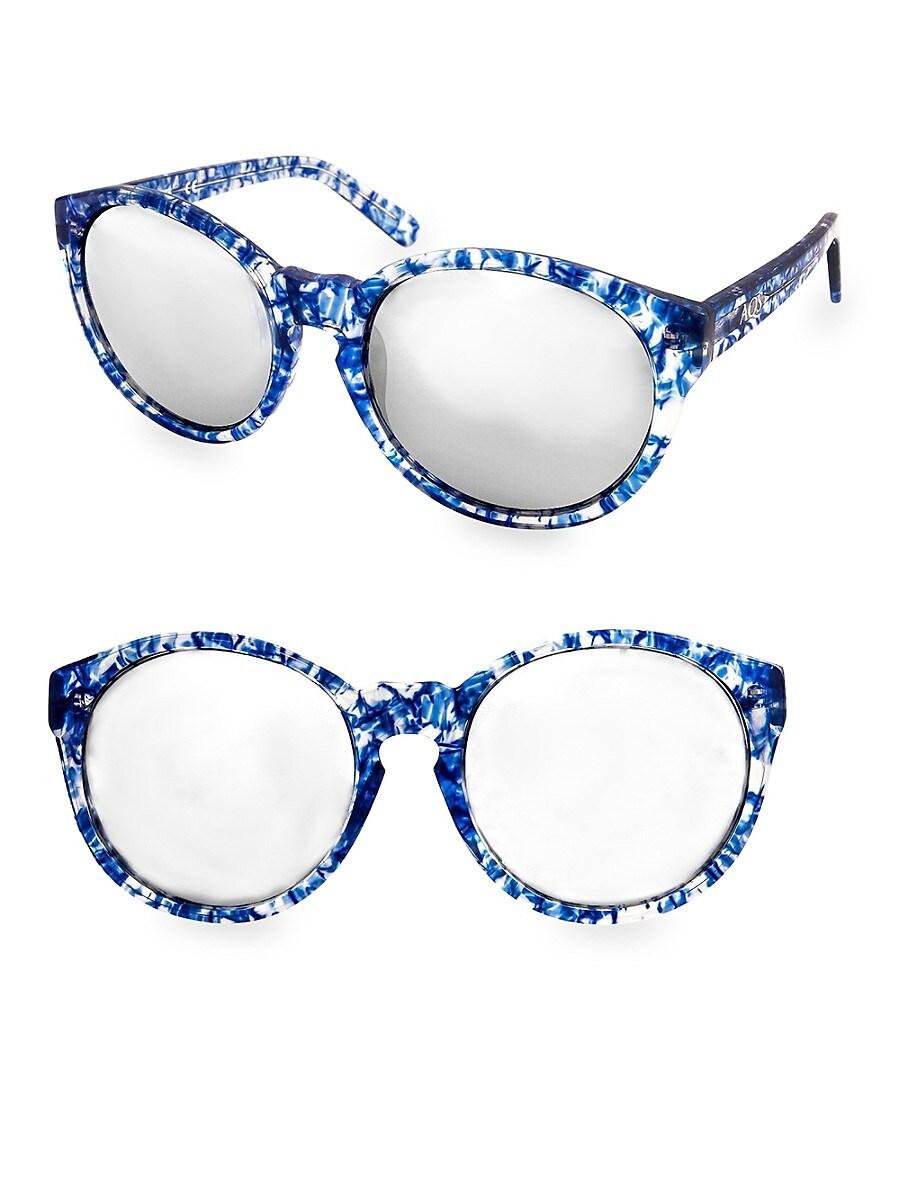 Women's 53MM Printed Daisy Round Sunglasses