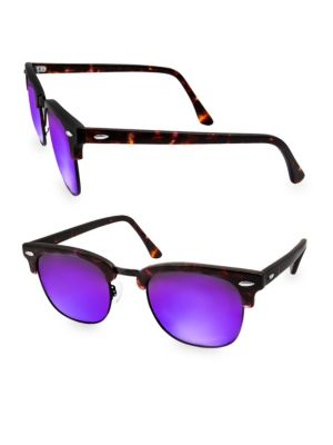 Aqs MILO 49MM Clubmaster Sunglasses