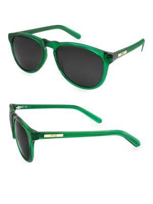 Aqs 53MM Banks Oval Sunglasses
