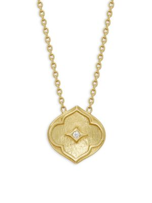 Amrapali Pallavi Diamond 18k Yellow Gold Pendant Necklace