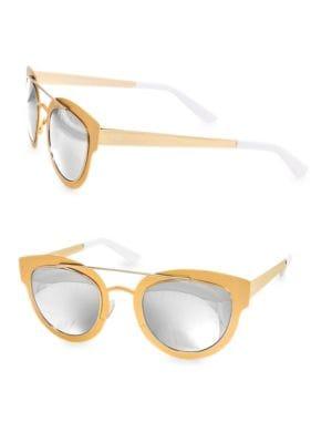 Aqs 49mm Jolene Round Sunglasses