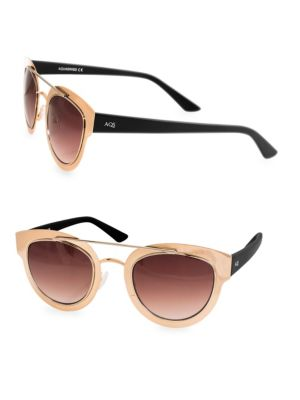 Aqs 49MM Jolene Round Metallic Sunglasses