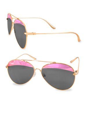 Aqs TOMMIE 60MM Aviator Sunglasses