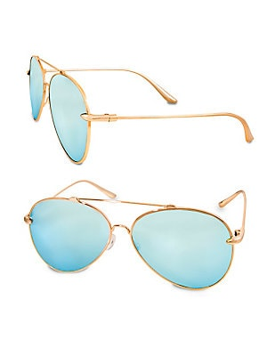 a292a851e35 AQS - Gradient 60MM Aviator Sunglasses - saksoff5th.com