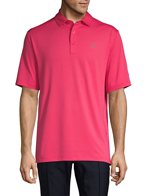 Cooling Micro Hex Polo Shirt