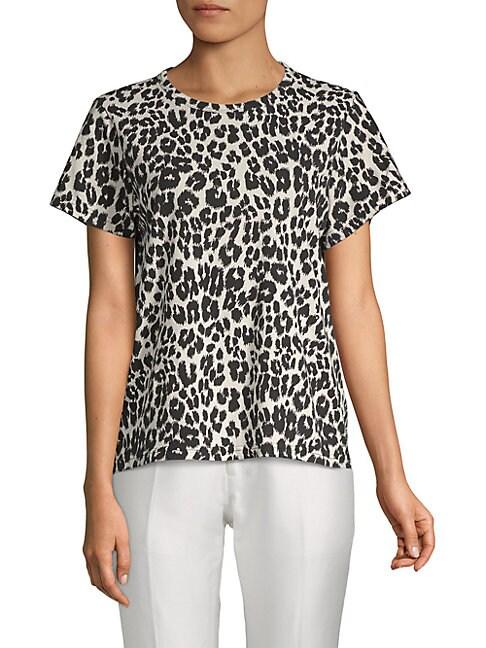 Leopard-Print Cotton Tee