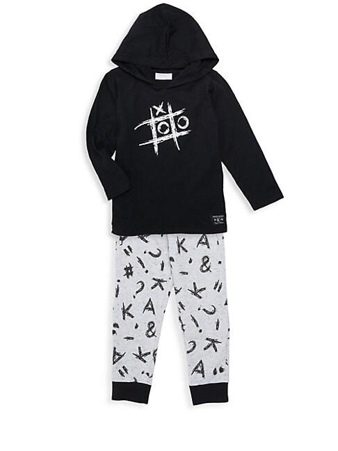 Little Boys 2Piece Hoodie  Sweatpants Set