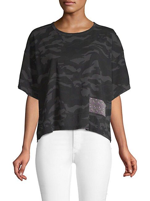 Camouflage Cropped Tee