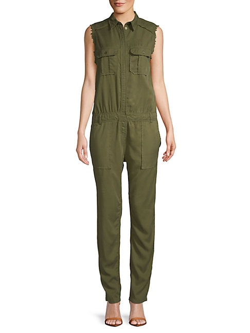 ETIENNE MARCEL | Frayed Sleeveless Jumpsuit | Goxip
