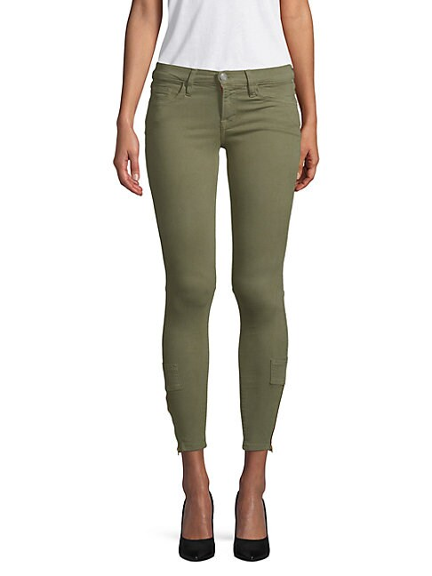 ETIENNE MARCEL   Zip Cuff Skinny Jeans   Goxip