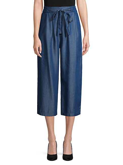 ETIENNE MARCEL | Cropped Chambray Pants | Goxip
