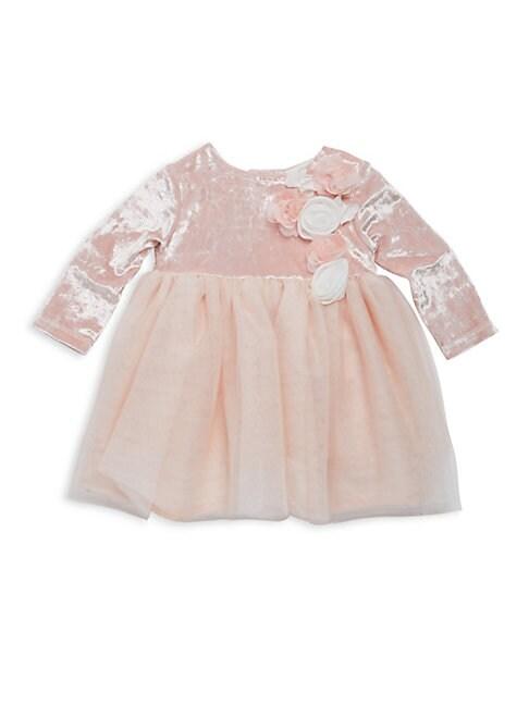 MINICLASIX Baby Girl'S Floral Silky Dress