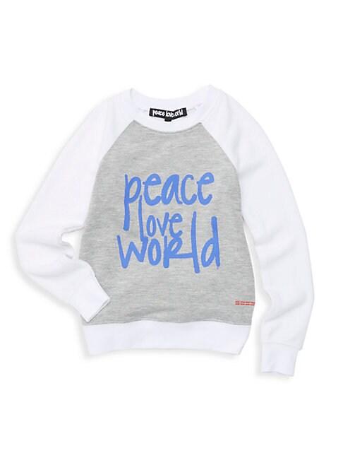 PEACE LOVE WORLD Little Girl'S Logo Sweatshirt