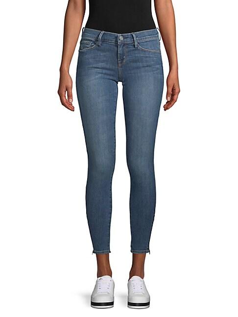 ETIENNE MARCEL   Zip-Cuff Skinny Ankle Jeans   Goxip