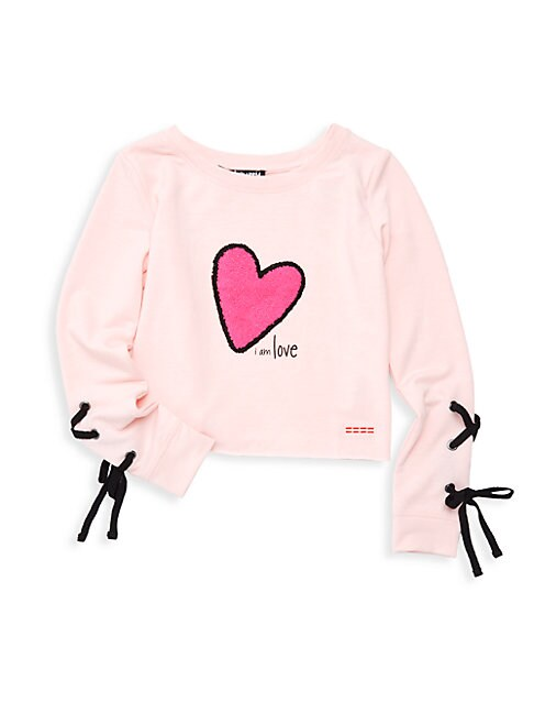 PEACE LOVE WORLD Little Girl'S Anna Pullover Sweater