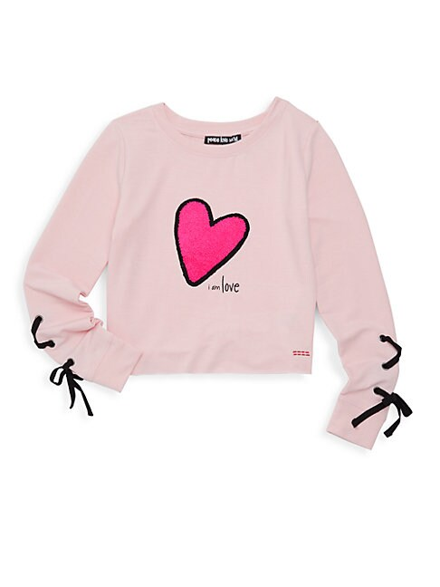 PEACE LOVE WORLD | Girl's Graphic Pullover | Goxip