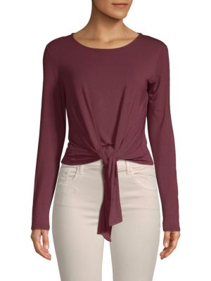 Catherine Catherine Malandrino Long-Sleeve Knotted Top