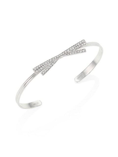 Hueb Origami Diamond & 18K White Gold Bangle Bracelet