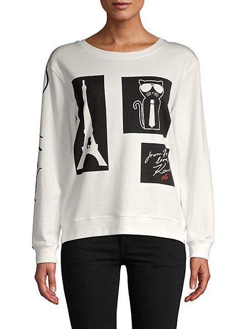 Parisian Stamp Graphic Sweatshirt