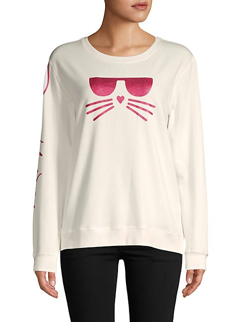 Choupette Glitter Graphic Sweatshirt