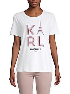 Karl Lagerfeld Paris - Cotton-Blend Logo Tee