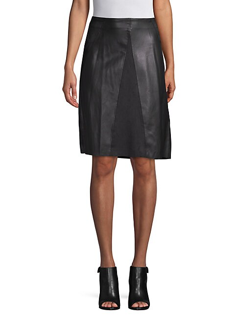 CATHERINE CATHERINE MALANDRINO | Faux-Leather A-line Dress | Goxip