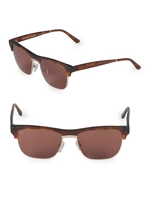 SMOKE X MIRRORS | 53MM Uncle Albert Rectangular Sunglasses | Goxip