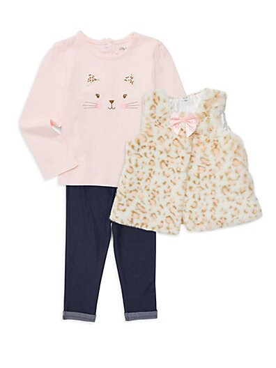 6a6db6ab380c Little Me Baby Girl s 3-Piece Cotton Top