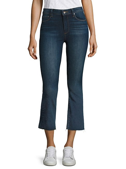 PAIGE | Colette Cropped Flared Jeans | Goxip