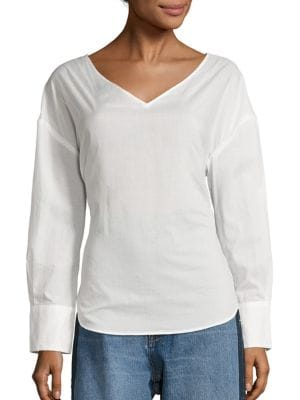 Voile Tie Back Top in White