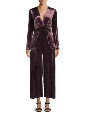 Temperley London Breeze Wrap Stretch Silk Jumpsuit