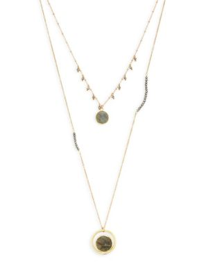 Panacea Crystal Layered Necklace