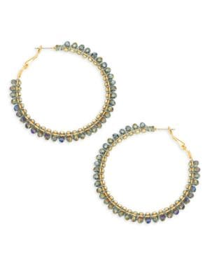 Panacea Purple Crystal Hoop Earrings