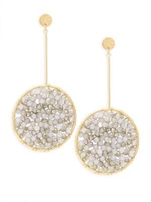 Panacea White & Gray Crystal Drop Earrings