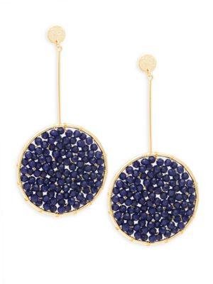 Panacea Navy Crystal Drop Earrings