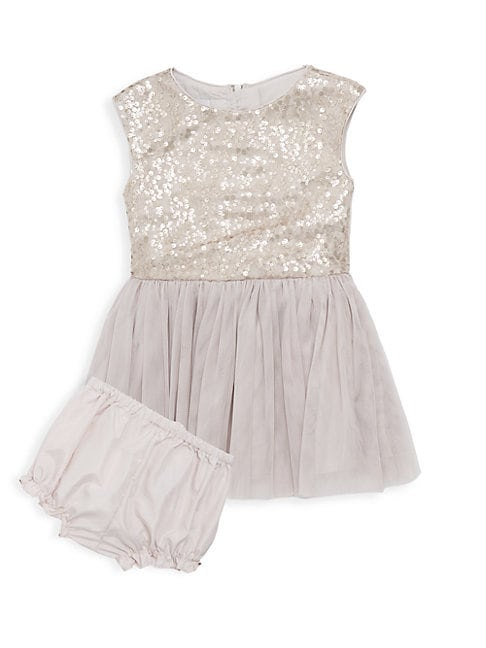 Baby Girls 2Piece Sequined Tutu Dress  Bloomer Set
