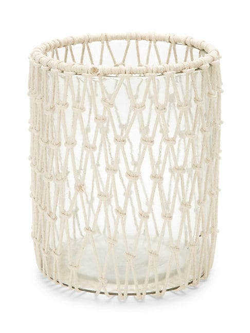 Macrame Glass Candle Holder