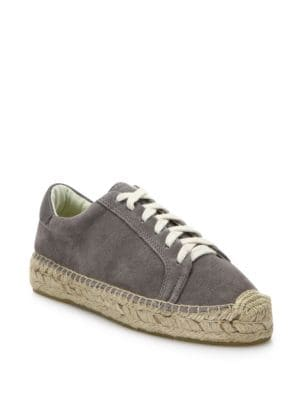 Soludos Canvas Lace-Up Espadrille Platform Sneakers