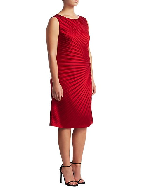 Plus Ruched Zippered Dress