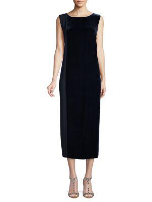 Marina Rinaldi Velvet Zipper Dress